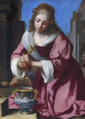 """O quadro """"Santa Prassede"""", do holandês Johannes Vermeer  - EFE"""