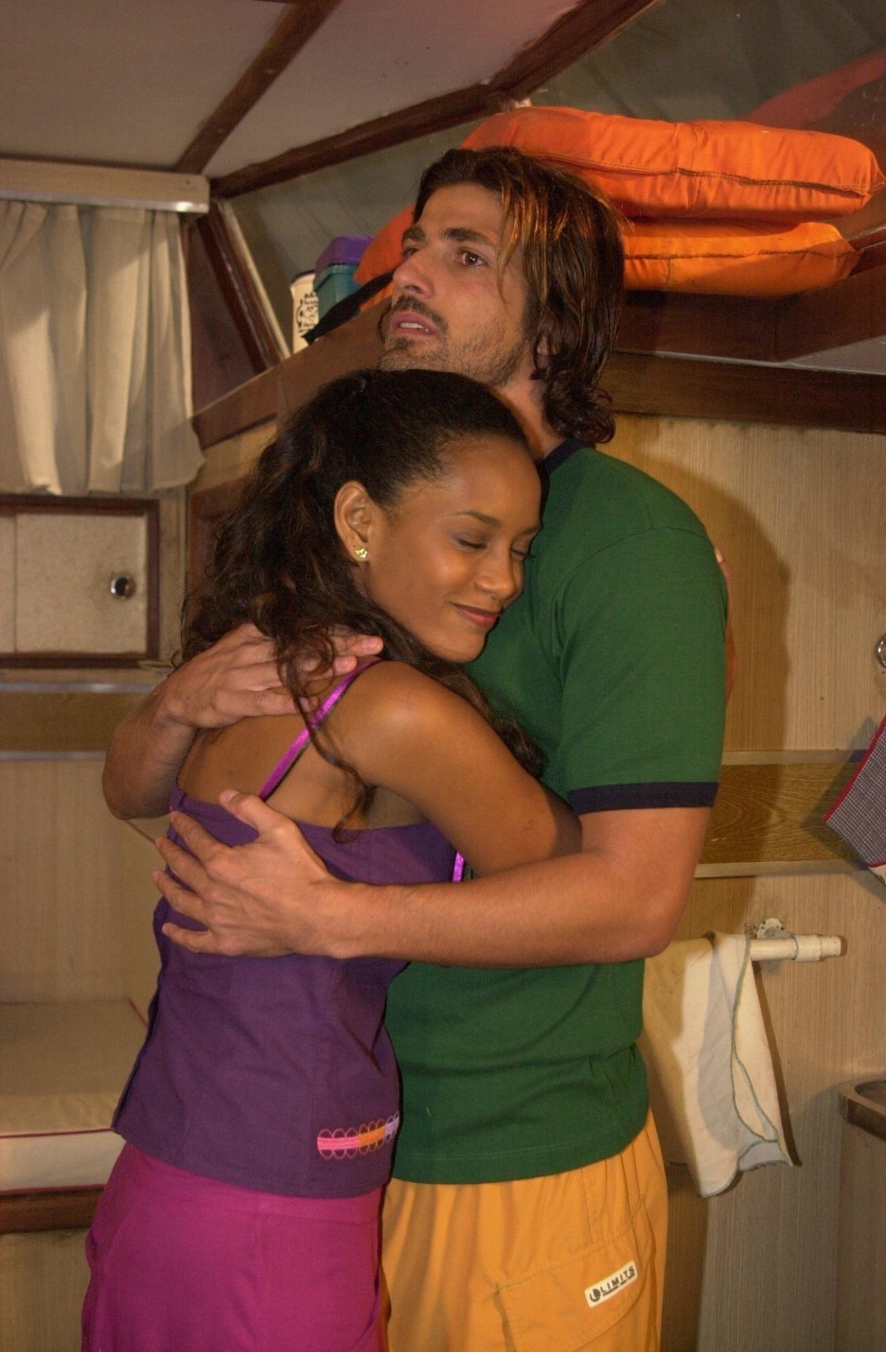 Taís Araújo viveu Preta, que era apaixonada por Paco (Reynaldo Gianecchini) em