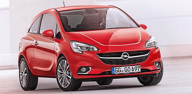 Opel Corsa 2015: mesma plataforma do 2014, frente do medonho Adam, mas tecnologia, conforto e pegada para finalmente encarar Fiesta e Polo na Europa. Carro estreia no Salão de Paris, em outubro - Divulgação