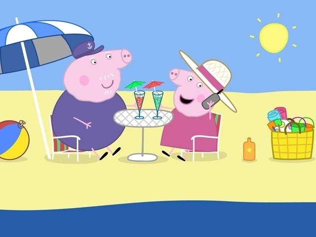 Vovó e vovô Pig adoram ficar com seus netos Peppa e George. A vovó faz lanches deliciosos e nutritivos e o vovô deixa que os dois o ajudem a cuidar do jardim