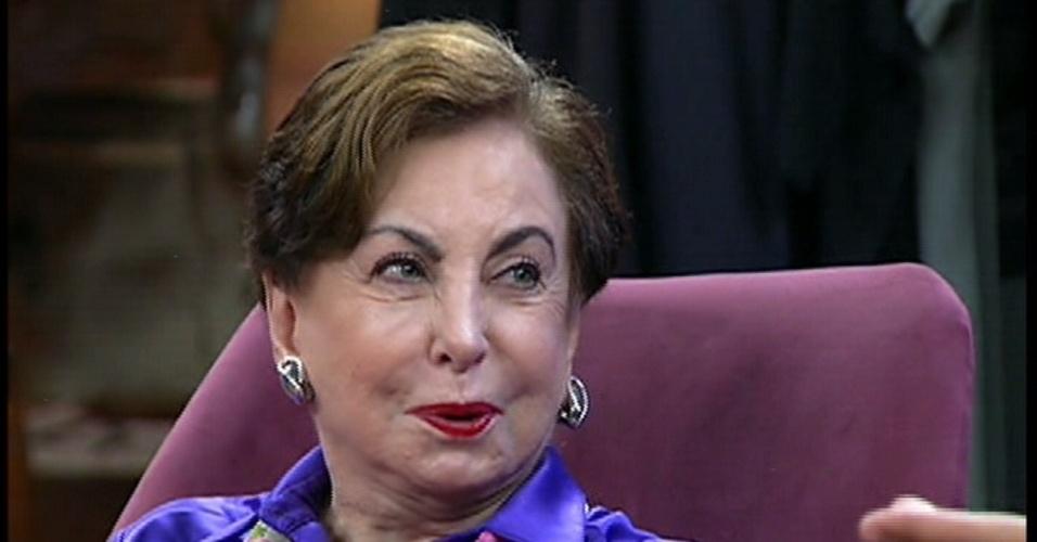 10.jul.2014 - Beatriz Segall relembra morte de Odete Roitman no