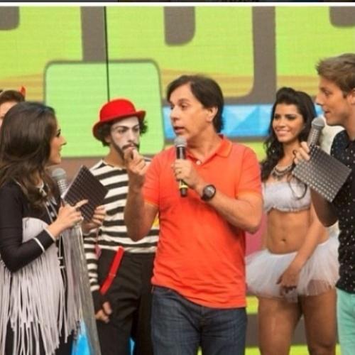 10.jul.2014 - Tatá Werneck faz piada com goleada alemã ao anunciar programa