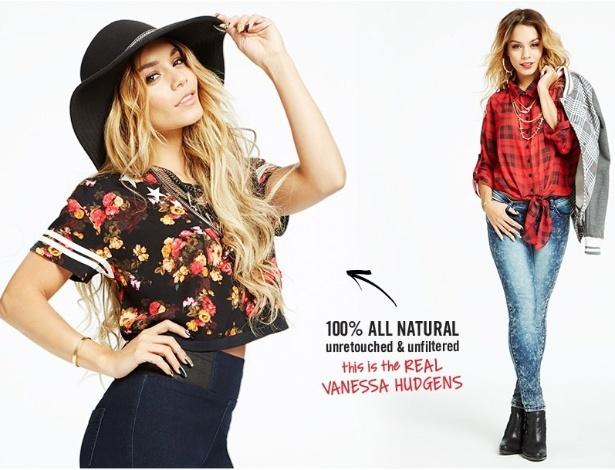 Atriz e cantora norte-americana Vanessa Hudgens em campanha para a marca fashion Bongo - Divulgação