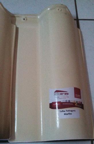 Feita de cerâmica esmaltada, a telha Tettogres, do Grupo Ouro Blanco, é vendida na Kitamura Telhas (www.kitamuratelhas.com.br) por R$ 28 (o m²) I Preços pesquisados em julho de 2014 e sujeitos a alterações