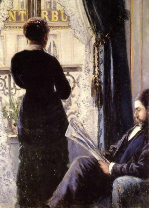 """""""Intérieur, femme à la fenêtre"""", de Gustave Caillebott - Reprodução"""