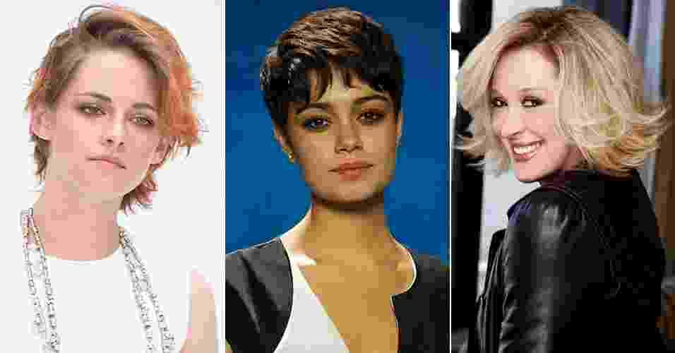 Kristen Stewart, Sophie Charlotte e Claudia Raia são opções modernas para a temporada outono/inverno - Getty Images/Estevam Avellar/Globo/Divulgação