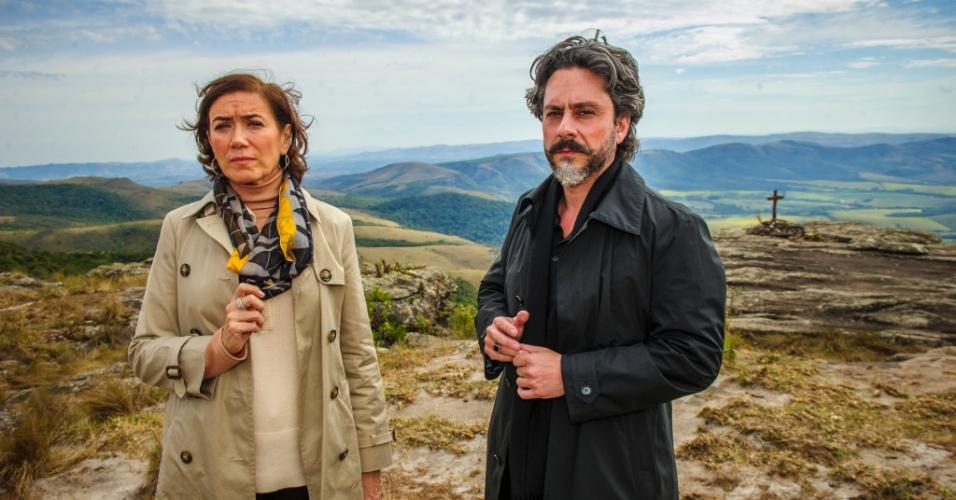 """Alexandre Nero e Lília Cabral em cena de """"Império"""". Na trama, eles vivem o casal José Alfredo e Maria Marta"""