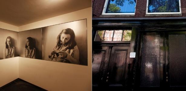 Montagem de fotos da Casa de Anne Frank, em Amsterdã - Divulgação
