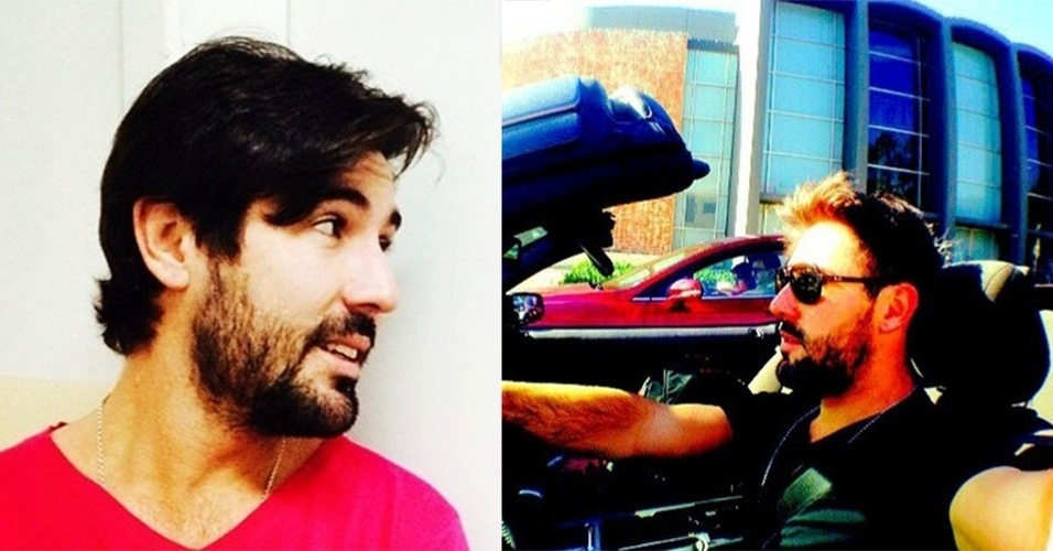 """12.jul.2014 - Após o fim de seu namoro com Susana Vieira, Sandro Pedroso corta o cabelo e anuncia em seu Instagram: """"Cabelo novo! Vida nova""""."""