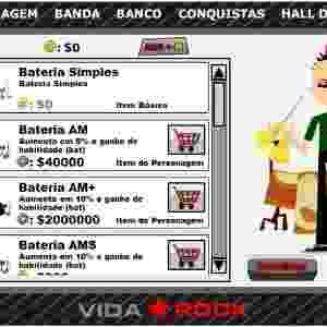 """Gerenciar uma banda e levá-la ao estrelato era o objetivo de """"Vida Rock"""", game feito no Brasil - Divulgação"""