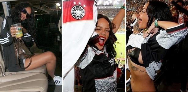 Jun.2014 - Rihanna em sua temporada no Brasil para a Copa do Mundo 2014