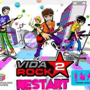 """""""Vida Rock 2"""" melhorou os gráficos e trouxe a banda Restart como 'personagem principal' da empreitada - Divulgação"""