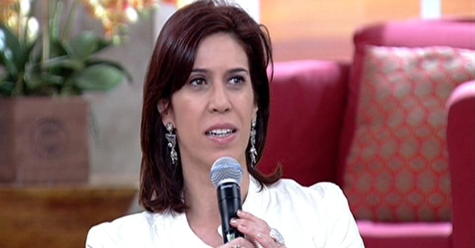 """15.jul.2014 - Maria Clara Gueiros diz no """"Encontro"""" que gostaria de esquecer vexame da Seleção Brasileira na Copa do Mundo"""