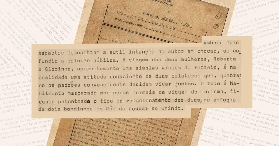 """Censores percebem que duas personagens, Roberta e Glorinha, decidem viver juntas ao final da novela """"quebrando os padrões convencionais"""""""