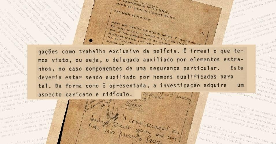 """Censura critica e diz ser """"irreal"""" a forma como o trabalho da polícia é apontado na versão original da novela """"O Rebu"""""""