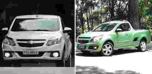 Chevrolet Agile e Montana - Arte UOL Carros - Arte UOL Carros