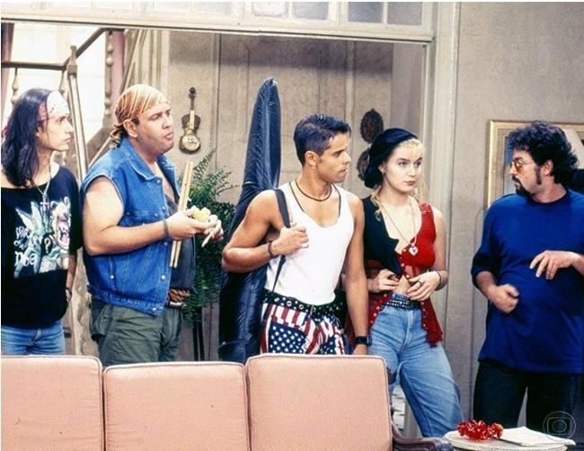 """Eduardo Felippe, Gerson Steves, Walter Verve, Chris Pitsch em cena de """"A Viagem"""""""