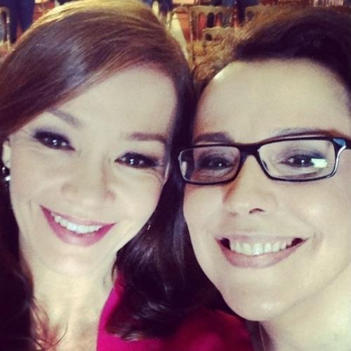 """16.jul.2014- Julia Lemmertz posa ao lado de Ana Beatriz Nogueira: """"Minha irmã na vida"""", escreveu ela no Instagram"""