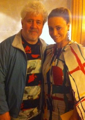 Pedro Almodóvar e Suzana Pires se encontraram em Cannes