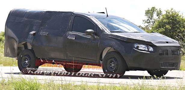 Picape média da Fiat roda em Michigan (EUA)