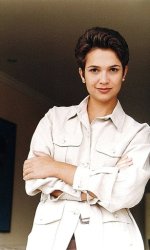 """Sandra Annenberg em 1996 quando deixou o """"Fantástico"""" para se tornar apresentadora do """"SPTV ? 1ª Edição"""""""
