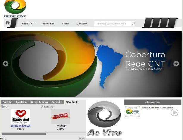 Site da CNT mostra programação da emissora dominada pela Igreja Universal do Reino de Deus