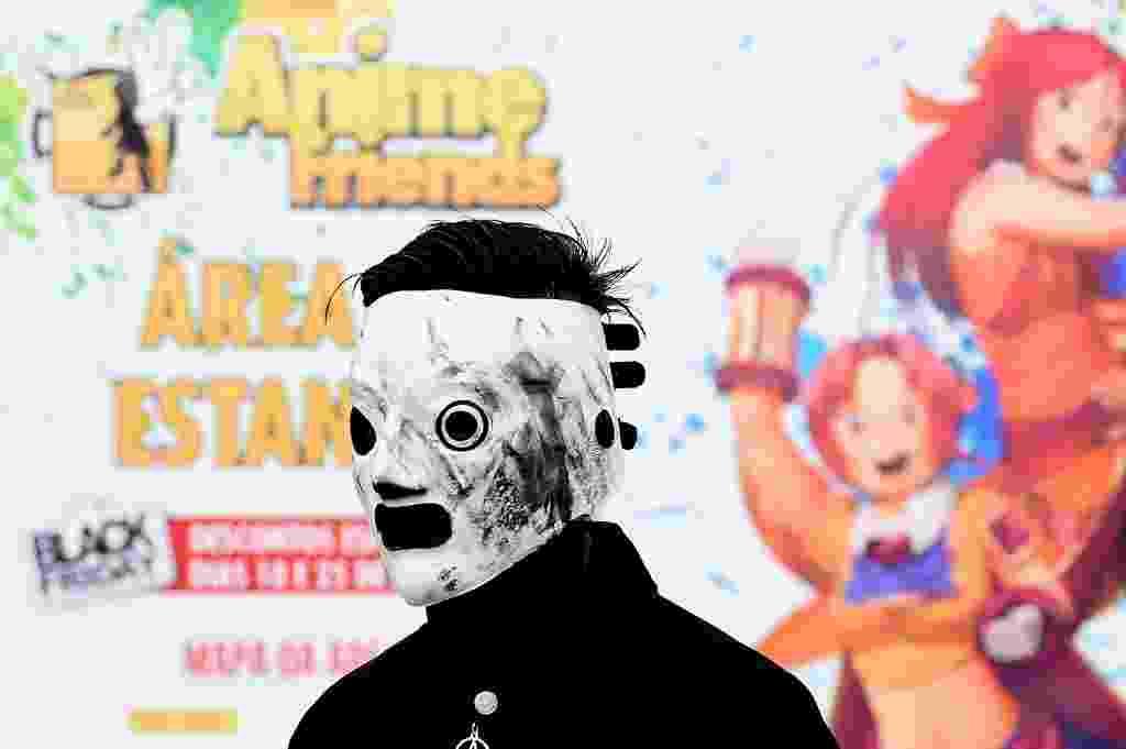 18.jul.2014 - Fãs se vestem como personagens  durante o Yamato Cosplay Cup Internation (YCCI), que à sua 7ª edição e terá sua grande final no Anime Friends 2014. O campeonato tem o objetivo de premiar o melhor cosplayer do mundo, que era regularmente realizado no Anime Dreams - Reinaldo Canato/UOL