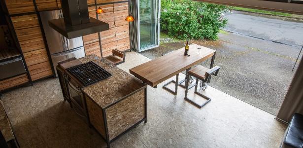 Segunda casa de casal no Oregon, tem quase 45 m² e custou cerca de US$ 60 mil - Laure Joliet/ The New York Times