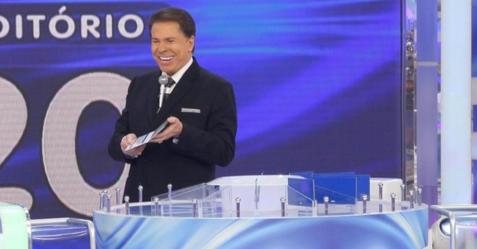 "Luiz Bacci e Leão Lobo no ""Programa Silvio Santos"""