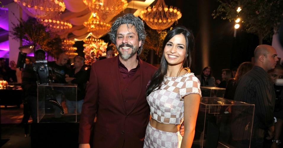 """19.jul.2014 - Alexandre Nero e Nanda Costa a festa de lançamento da novela """"Império"""" realizada no Rio"""