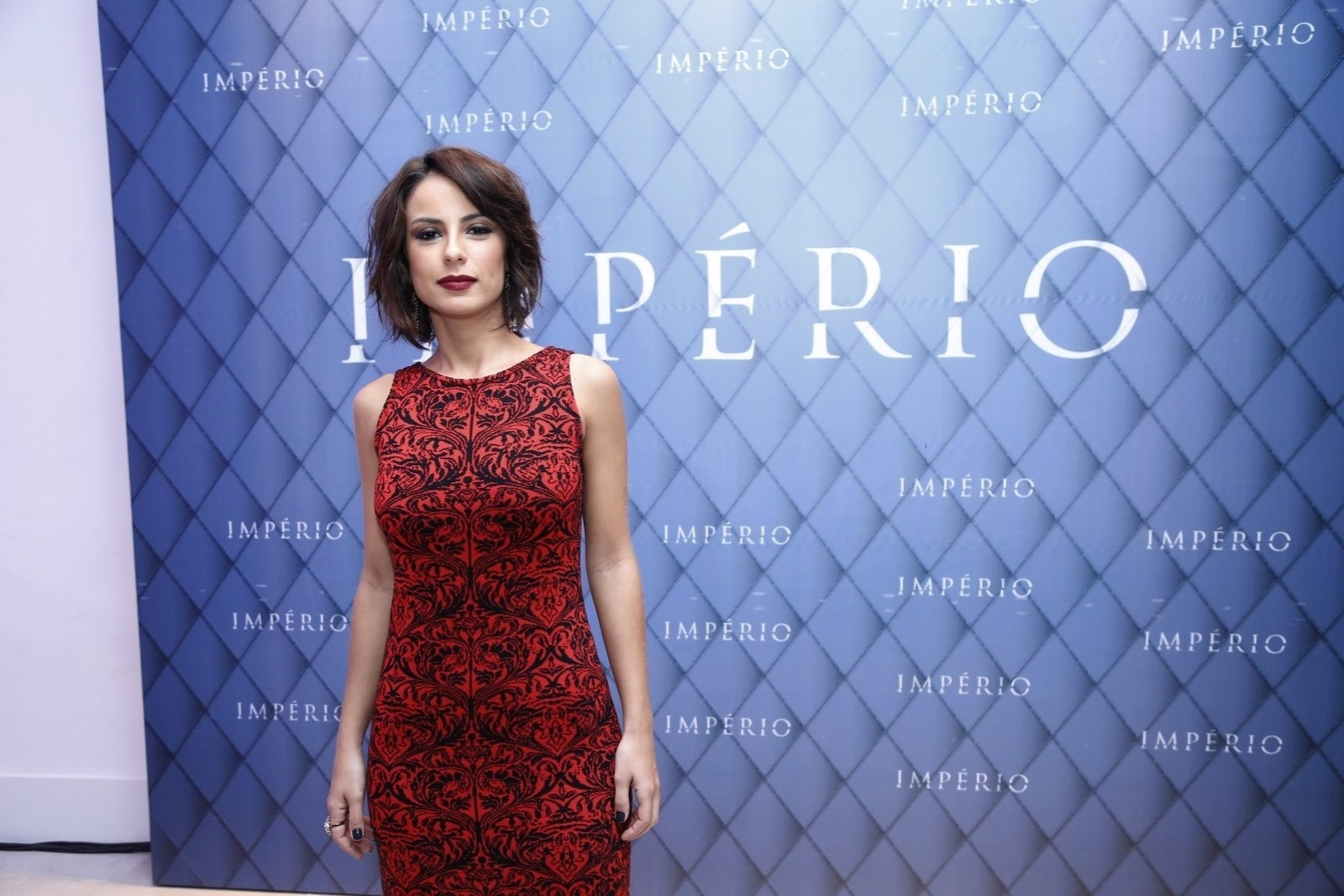 19.jul.2014 - Andreia Horta prestigiou a festa de lançamento da novela
