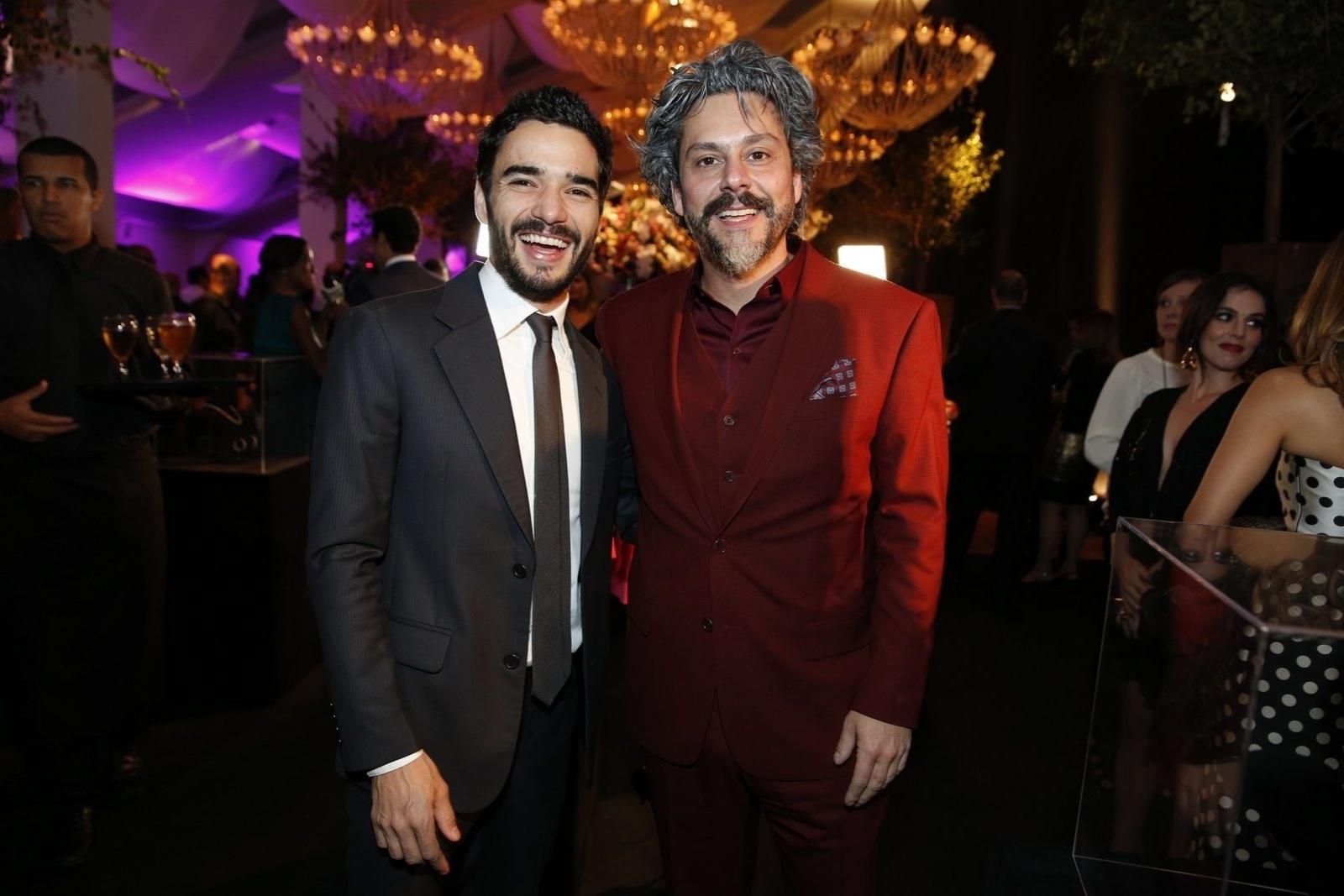 19.jul.2014 - Caio Blat e Alexandre Nero prestigiaram a festa de lançamento da novela