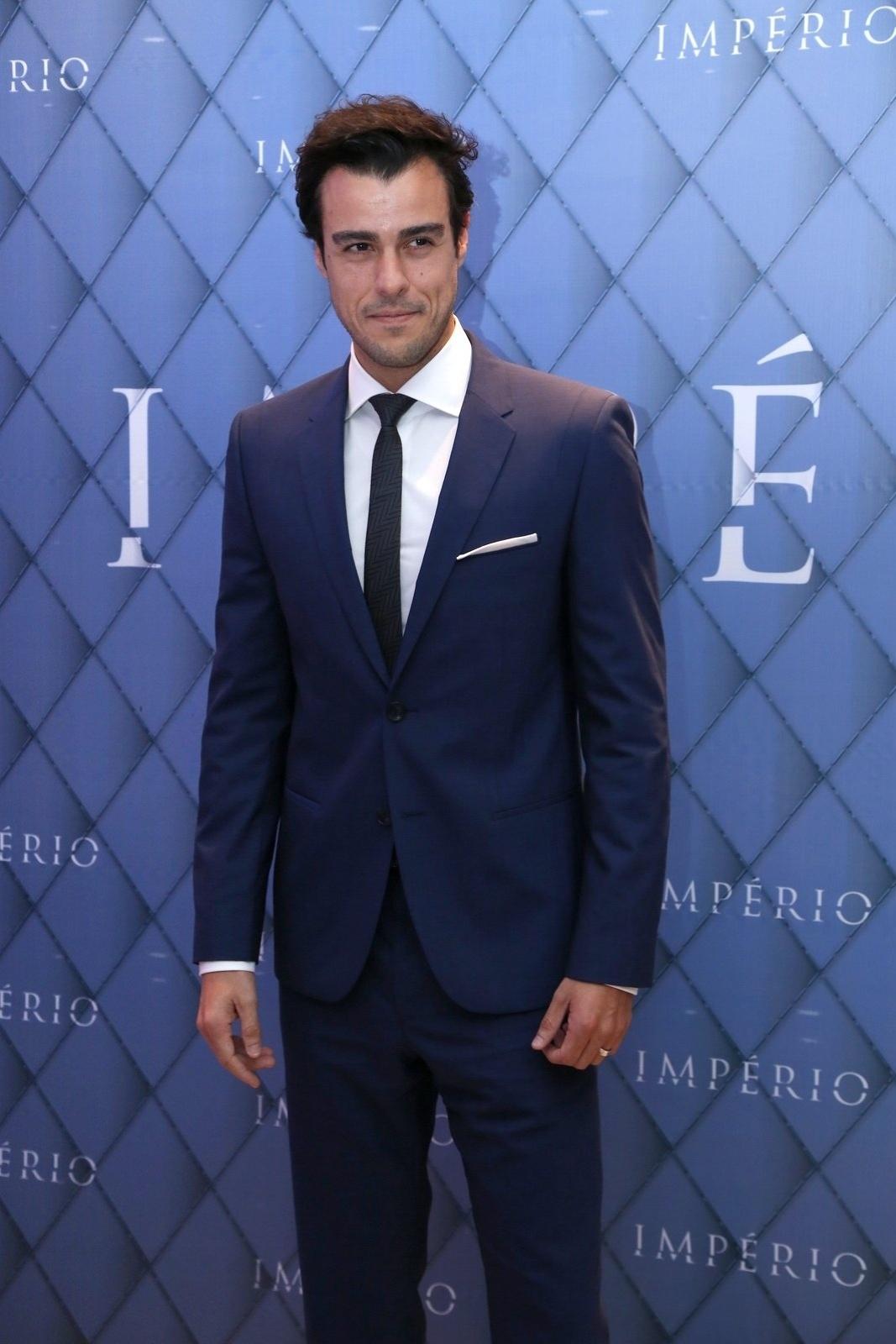 19.jul.2014 - Joaquim Lopes prestigiou a festa de lançamento da novela