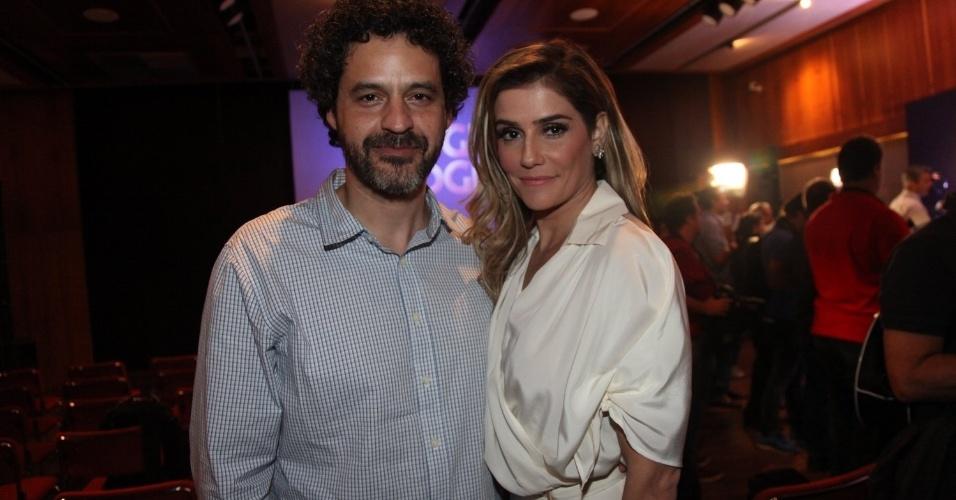 """22.jul.2014- Bruno Garcia e Deborah Secco participam de lançamento da nova novela das seis """"Boogie Oogie"""""""