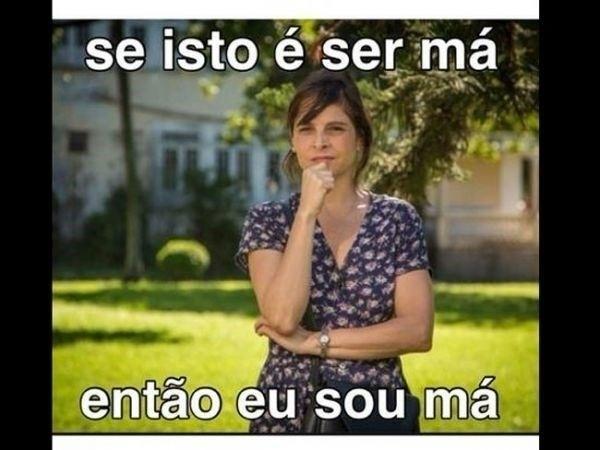 """A foto de Drica Moraes como Cora foi legendada assim: """"Se isto é ser má, então eu sou má"""""""