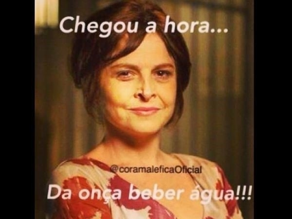"""Em outra montagem, Drica Moraes diz """"chegou a hora da onça beber água"""""""