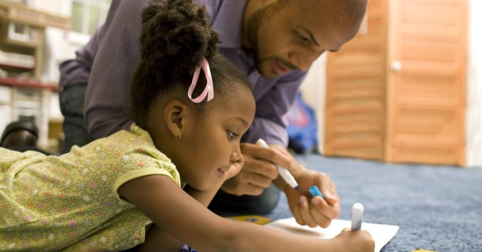 pai, filha, pais, filhos, escola