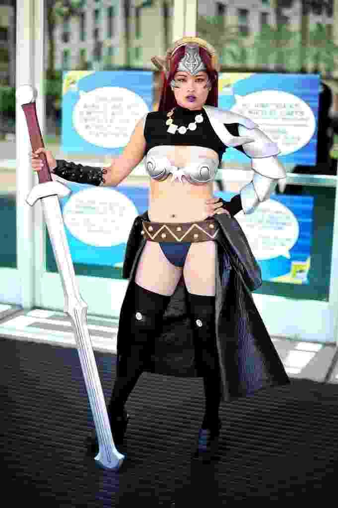 24.jul.2014 - Fã de cosplay posa para fotos durante a San Diego Comic-Con - Jerod Harris/AFP