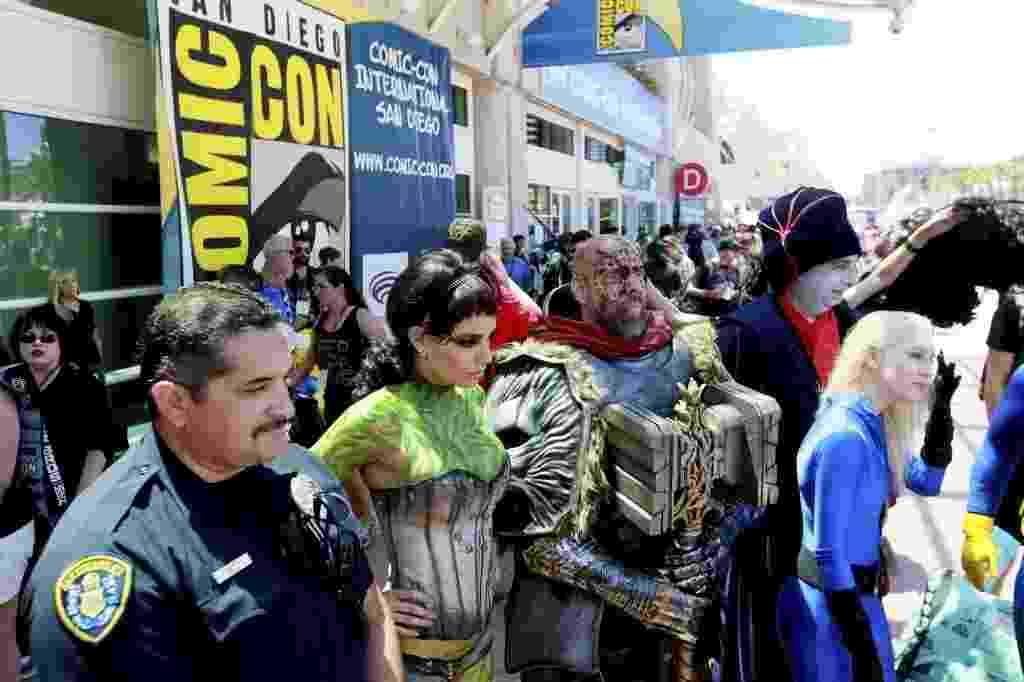 24.jul.2014 - Fãs de cosplay circulam pela San Diego Comic-Con - Sandy Huffaker/Reuters