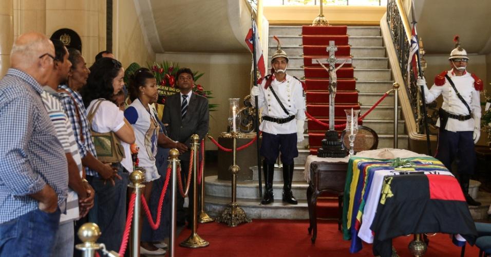 24.jul.2014 - Velório de Ariano Suassuna é realizado no palácio do Campo das Princesas, em Recife