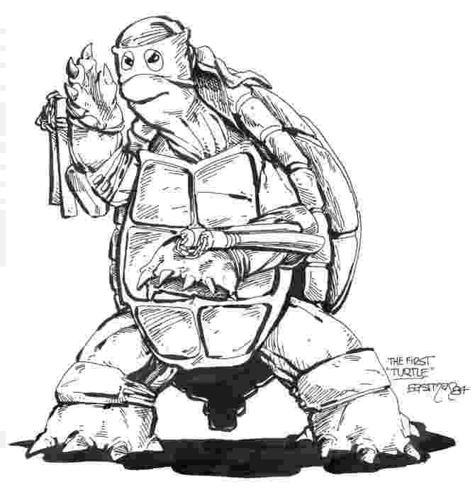 A primeiro desenho das Tartarugas Ninja, feito em 1984 por Kevin Eastman, está sendo vendido na San Diego Comic-Con por US$ 2 milhões. Parte da arrecadação será doada a instituições de caridade. Este ano marca o aniversário de 30 anos dos personagens - Divulgação