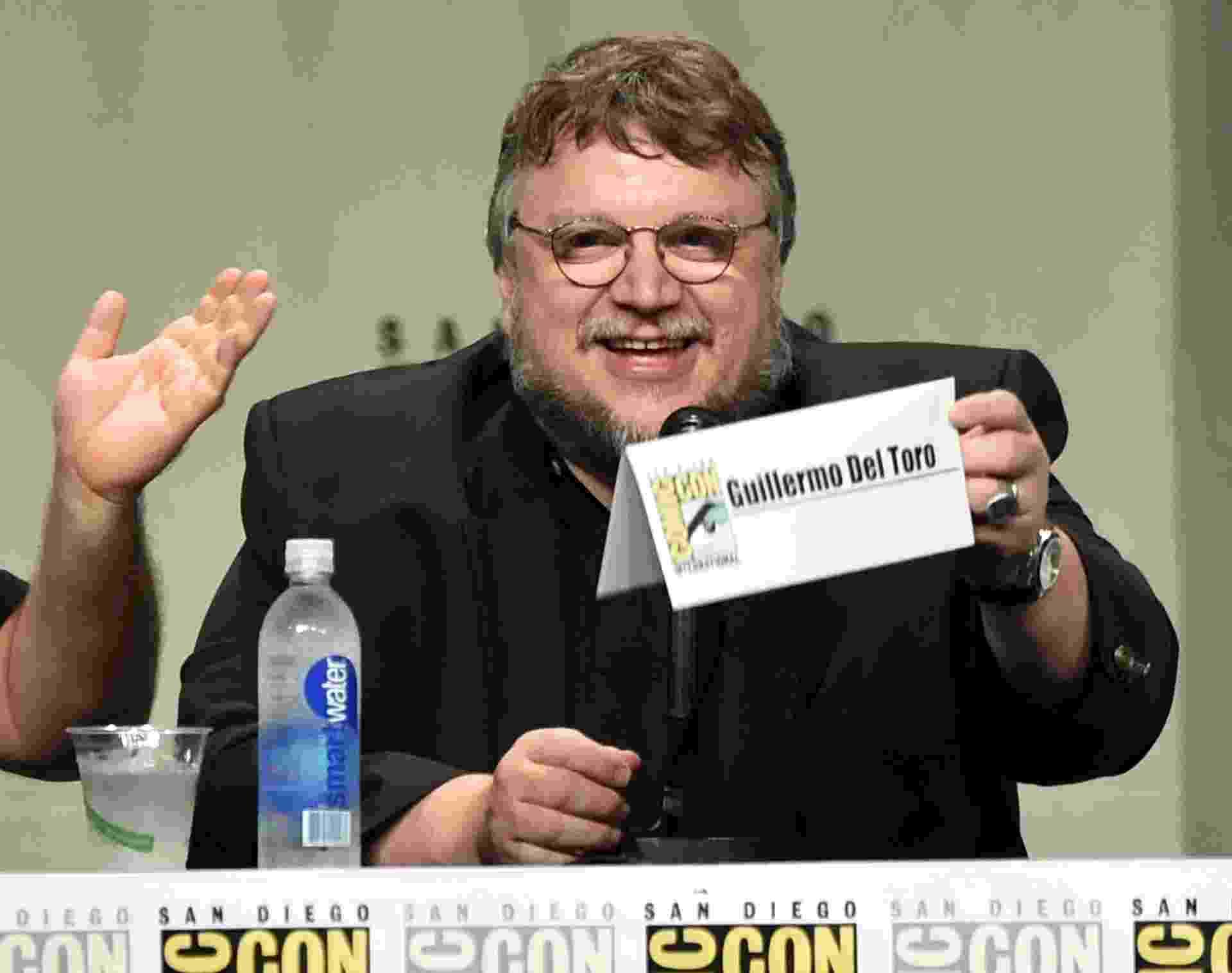 "25.jul.2014 - Guillermo del Toro no painel da Fox na Comic-Con, onde falou sobre a animação ""Festa do Céu"" - Getty Images"