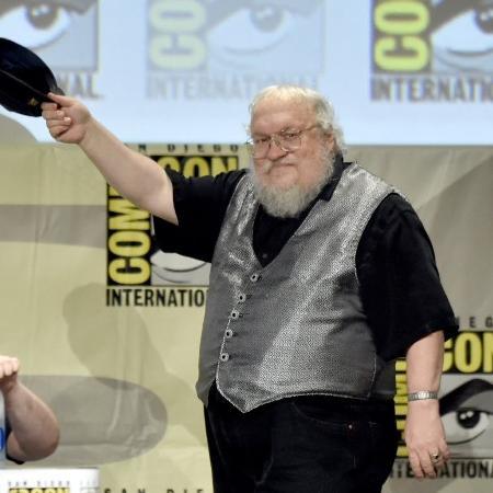"""George R.R. Martin, autor da série de livros que inspira a série """"Game of Thrones"""" - Kevin Winter/AFP"""
