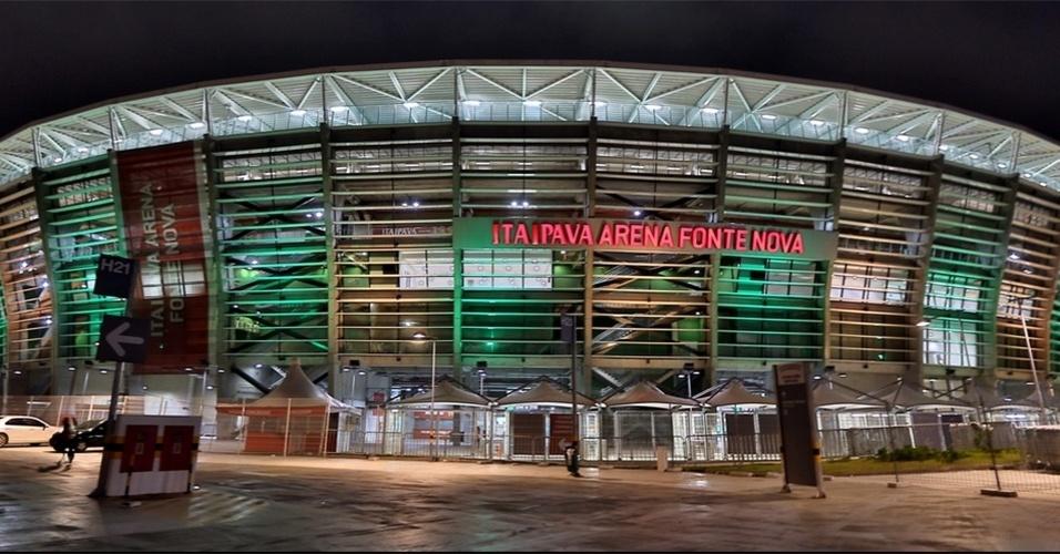 Arena Fonte Nova foi o palco da sede baiana da Copa do Mundo, marcado por grandes goleadas como o 5 a 1 da Holanda sobre a Espanha e os 5 a 2 da França sobre a Suíça
