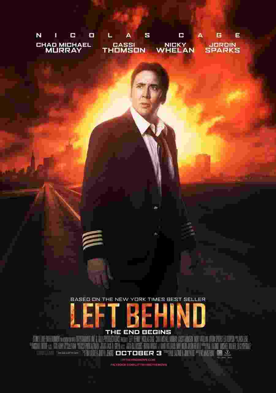 """Em """"Left Behind"""", Nicolas Cage vive um piloto de avião em meio ao """"arrebatamento"""" bíblico de milhões de pessoas; o filme chegará ao cinema em 3 de outubro (nos EUA) - Divulgação"""
