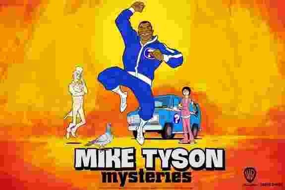 """Imagem de divulgação da animação """"Mike Tyson Mysteries"""", da Warner Bros. A nova série é inspirada nos desenhos de Scooby-Doo e traz o ex-boxeador a frente de um grupo que inclui um pombo, um fantasma e uma filha adotiva - Reprodução"""