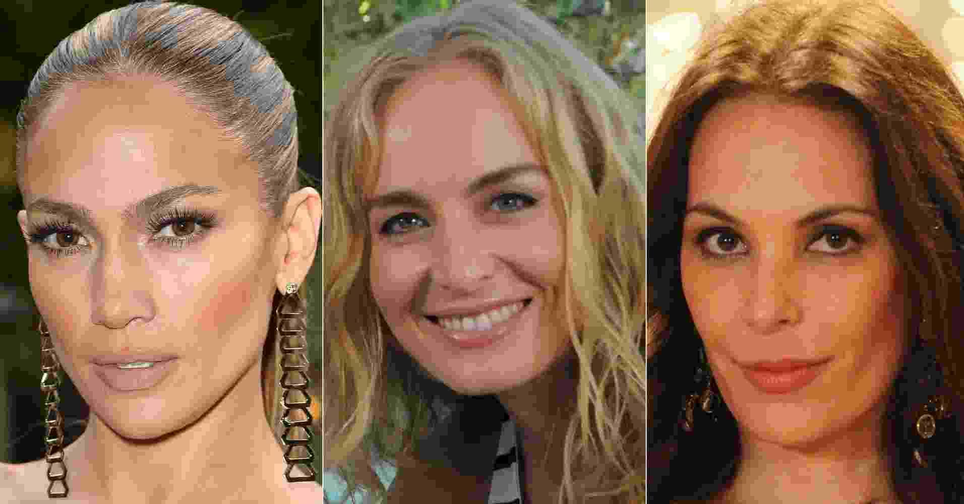 Jennifer Lopez, Angélica e Carolina Ferraz - Getty Images/Divulgação/TV Globo/Montagem/UOL
