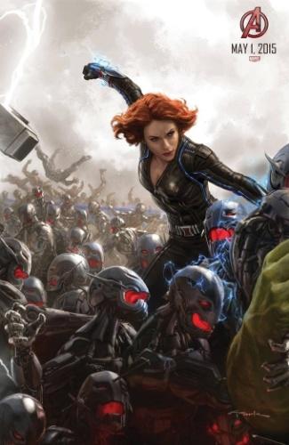 Scarlett Johansson, a Viúva Negra, entra em ação em mais um pôster com arte conceitual de