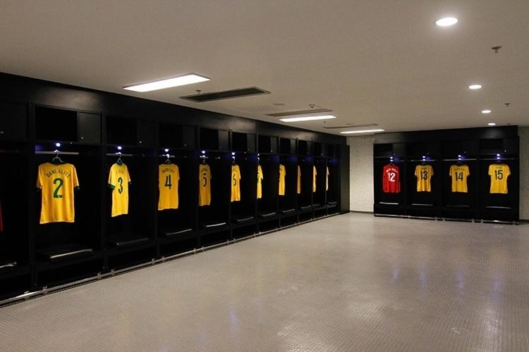 Vestiários do estádio do Maracanã, uma das atrações da visita ao estádio