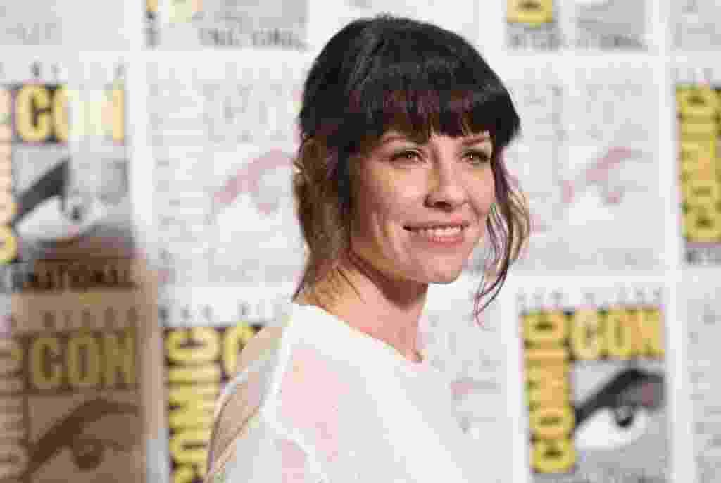 25.jul.2014 - A atriz Evangeline Lilly, que foi confirmada no painel da Marvel na Comic-Con no filme do Homem-Formiga - Robyn Beck/AFP